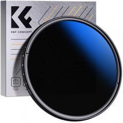K&F KV33 58mm ND Fader Filtre à densité neutre variable ND2 à ND400 pour objectif d'appareil photo ultra-mince, multicouche