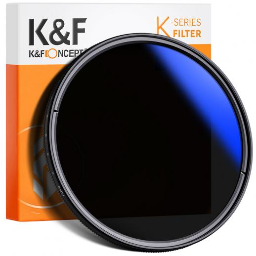 K&F KV33 77 mm ND-fader met variabele neutrale dichtheidsfilter ND2 tot ND400 voor cameralens Ultradun, meervoudig gecoat