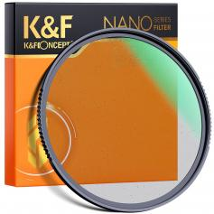 49mm, Nano-X, optical glass black soft filter 1/8 ultra-clear, coated with waterproof, scratch-resistant and anti-reflection green film