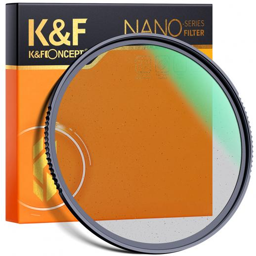 KF 72 mm, Nano-X, optisch glas zwart zachte filter 1/8 ultrahelder, gecoat met waterdichte, krasbestendige en anti-reflectie groene film