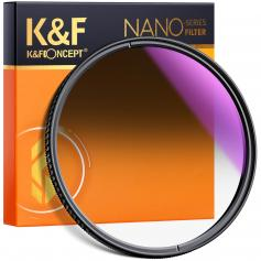 KF 62mm, Nano-X, optical glass soft gradient GND8, ultra-clear, coated with waterproof, scratch-resistant and light-reducing blue film