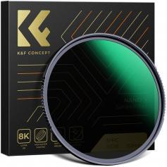 62 mm ND8 (3-stopp) ND-linsfilter, HD-fast neutraltäthetsfilter med 18-lager dubbelsidig belagd, ultratunn ram Importera optiskt glas Nano-X-serien för kameralins