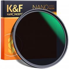 K&F XN55 62 Nano-X, glas ND64, ultraklar, belagd med vattentät, reptålig och antireflexgrön film