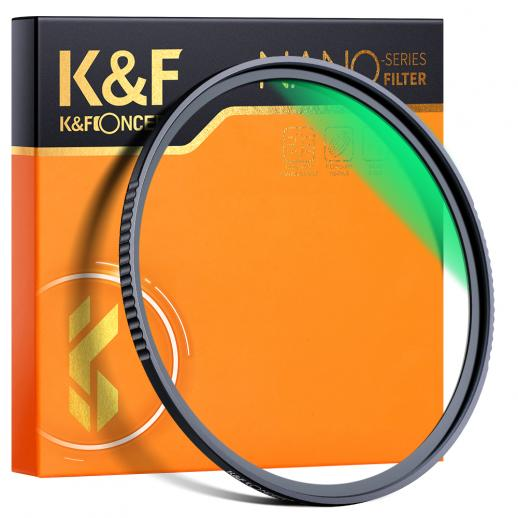 K&F XU05 58 mm UV-filter voor cameralenzen, 18-laags multi-gecoate UV