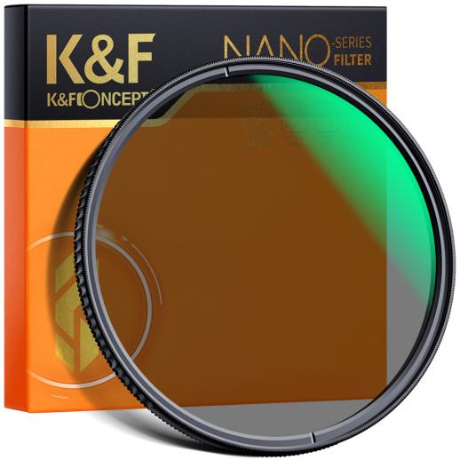 37 mm circulair polarisatiefilter, K&F Concept 37 mm circulair polarisatiefilter HD 18-laags super slanke multi-gecoate CPL-lensfilter