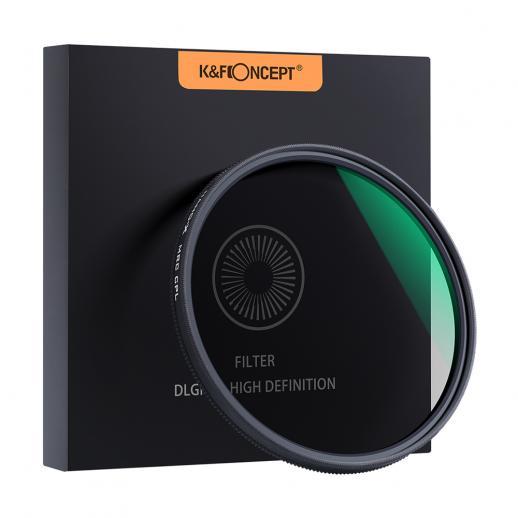 49 mm circulair polarisatiefilter, K&F Concept 49 mm circulair polarisatiefilter HD 18-laags super slanke multi-gecoate CPL-lensfilter