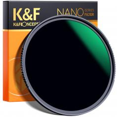 72mm ND1000 Filter 10 Stops ND, Solid Neutral Density Lens Filter Multi-Coated Optical Glass Neutral Grey ND with Multi-Resistant Coating