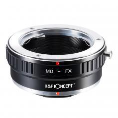 MD to FX Adapter,K&F Concept Lens Mount Adapter for Minolta MD MC Lens Mount Adapter to Fujifilm Fuji X-Series X FX Mount Mirrorless Camera Body,Fits for Fuji XT2 XT20 XE3 XT1 X-T2