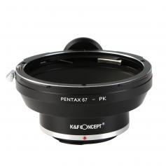 Pentax 67 Objektiv Till Pentax K Kamerafäste Adapter Med Stativfäste