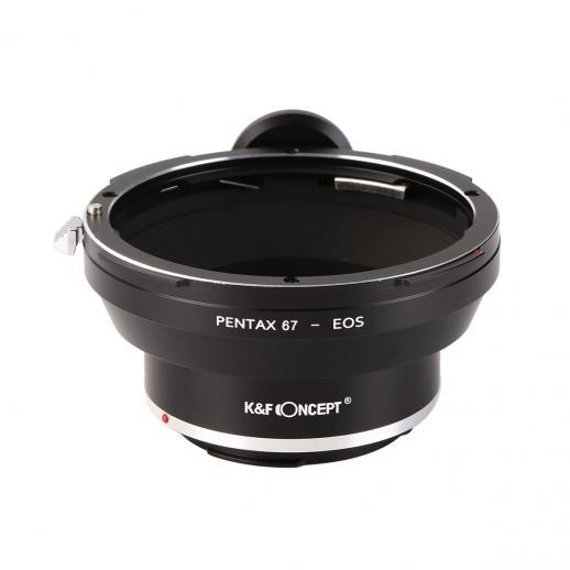 Adapter für Pentax 67 Objektiv auf Canon EF Mount Kamera