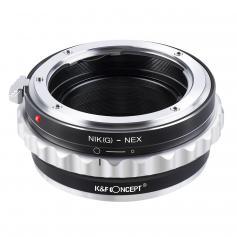 K&F Adapter für Nikon G/F/AI/AIS/D Objektiv auf Sony E Mount Kamera