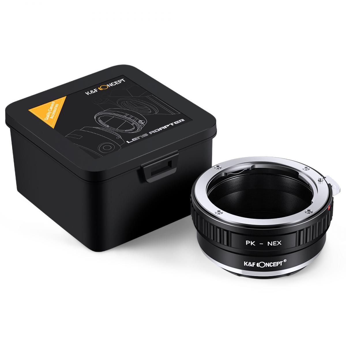 K&F Concept PK K Mount Lens to Sony NEX E-Mount Lens Adapter, Compatible with Sony NEX-3 NEX-3C NEX-3N NEX-5 NEX-5C NEX-5N NEX-5R NEX-5T NEX-6 NEX-7 NEX-F3 NEX-VG10 VG20