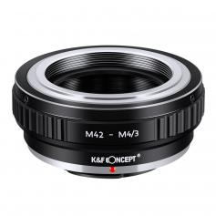 Lens Mount Adapter for M42 Screw Mount Lens to Micro 4/3 Four Thirds(MFT, M4/3) Mount Camera,Fits for Olympus PEN Panasonic Lumix OM-D and BMPCC