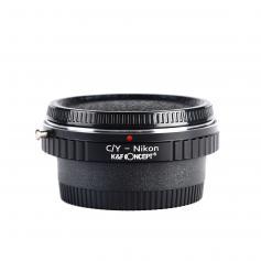 Adapter für Contax Yashica Objektiv auf Nikon F Kamera mit Optisches Glas