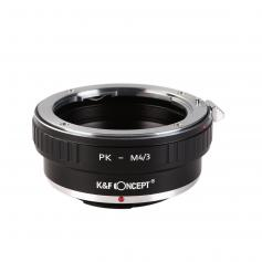 K&F Concept PK to M4/3 Adapter, Lens Mount Adapter Compatible with Pentax PK K Mount Lens to Micro 4/3 M43 MFT Mount Mirrorless Cameras