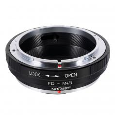 FD to Micro 4 3,K&F Concept® Lens Mount Adapter for Canon FD Lens to Micro Four Thirds Lens Olympus PEN and Panasonic Lumix Cameras FD-M4/3