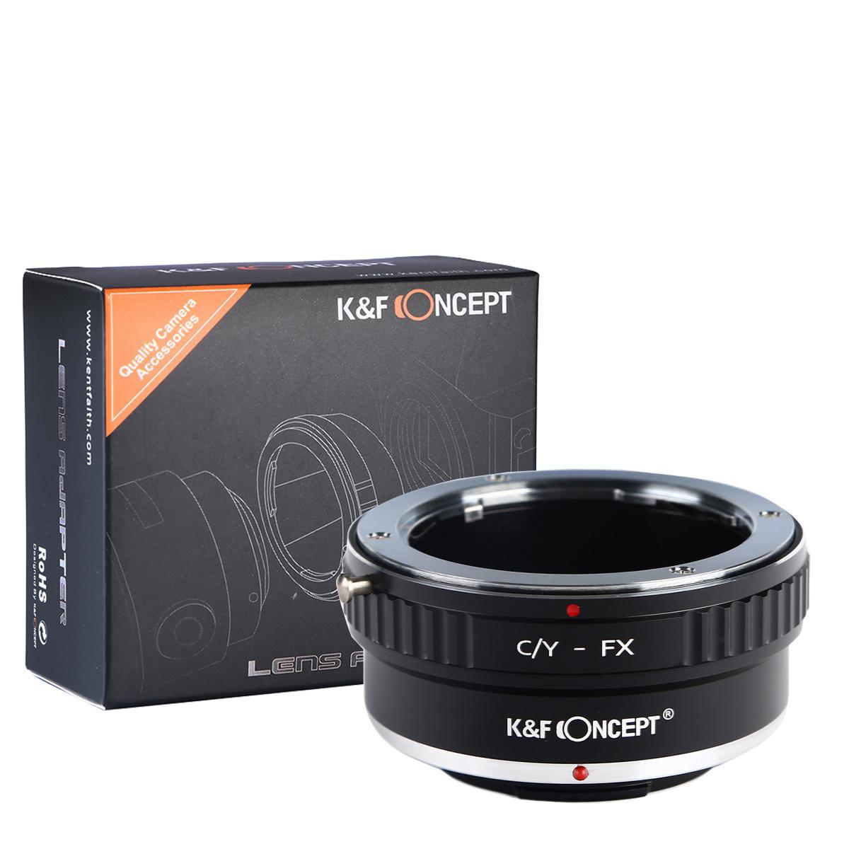 K&F M14111 Lentes Contax Yashica para adaptador de montagem de lente Fuji X