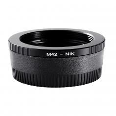 Adapter für M42 Objektiv auf Nikon F Kamera mit Optisches Glas