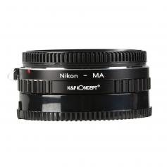 Nikon F Lenses to Minolta A / Sony A Mount Camera Adapter with Optic Glass