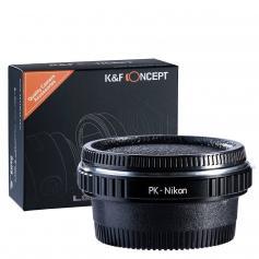 Adapter für Pentax K Objektiv auf Nikon F Mount Kamera mit Optisches Glas