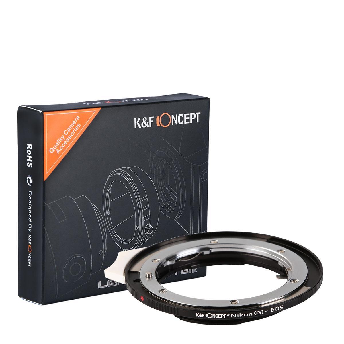 K&F M18131 Lentes Nikon G para Adaptador de Montagem de Lente Canon EF