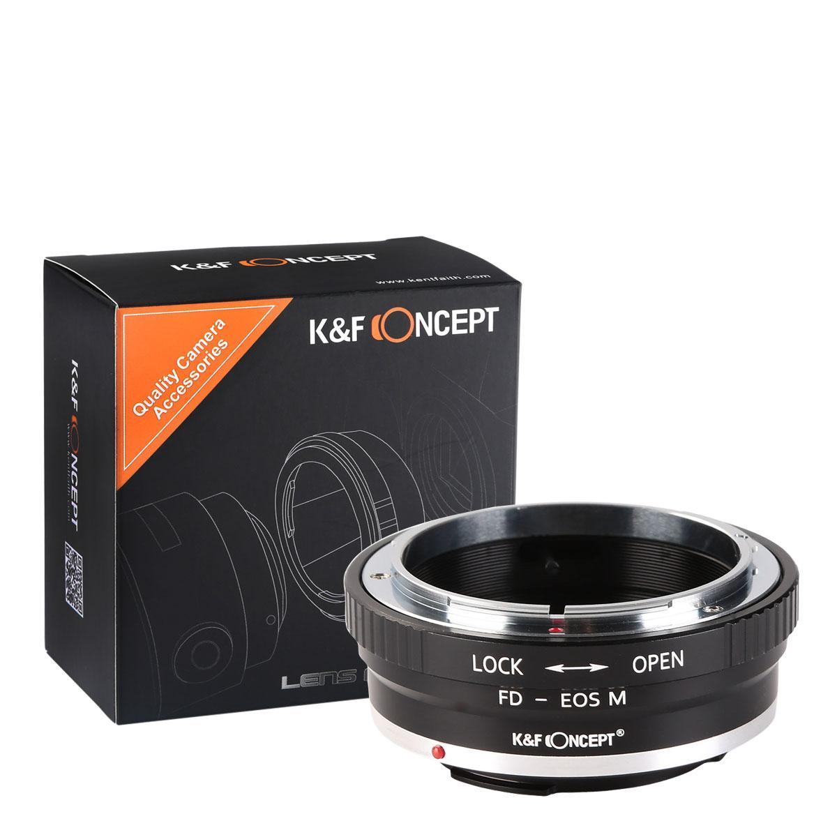 K&F M13141 Lentes Canon FD para Canon EOS M Adaptador de Montagem de Lente