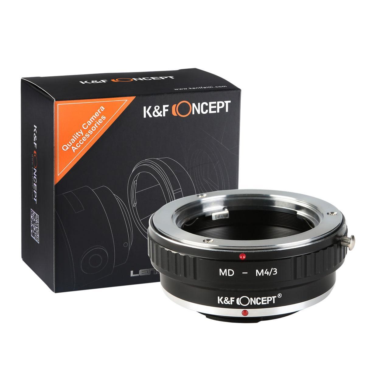 K&F M15121 Lentes Minolta MD para M43 Adaptador de montagem de lente MFT