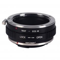 Adapter für Sony A Mount Objektiv auf Canon EOS M Mount Kamera