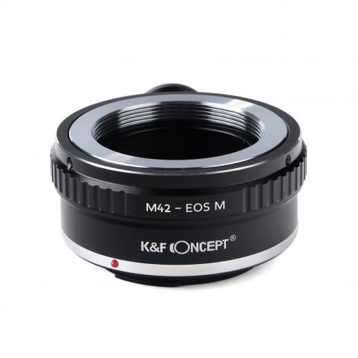 K&F M10142 M42 para Canon EOS M Adaptador de montagem de lente com tripé