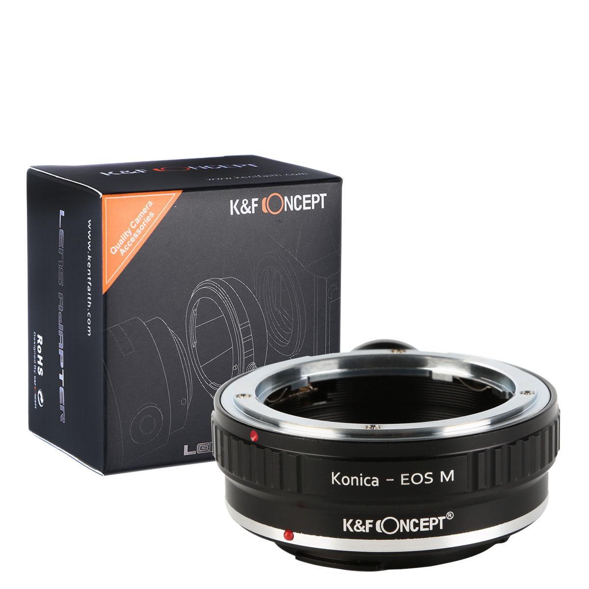 Adaptador Lentes Konica AR para corpo Canon EOS M com Tripé Monte
