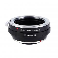 Adapter für Sony A Mount Objektiv auf Nikon 1 Mount Kamera mit Halterung