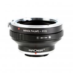 Adapter für Sony A Mount Objektiv auf Pentax Q Mount Kamera mit Halterung