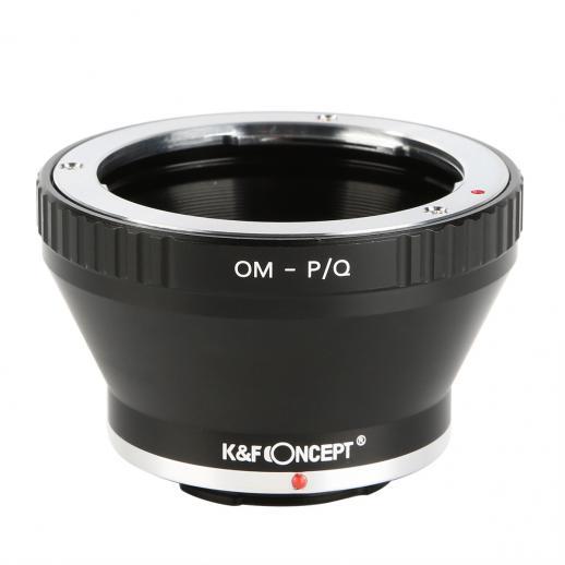 Adapter für Olympus OM Objektiv auf Pentax Q Mount Kamera
