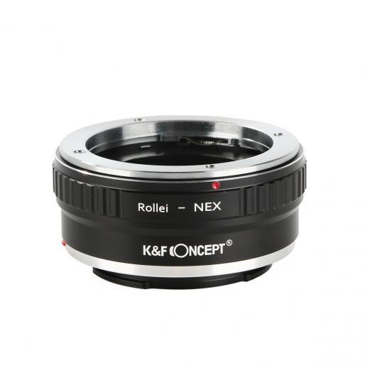 Adattatore per Obiettivi Rollei QBM a Fotocamere Sony E Mount