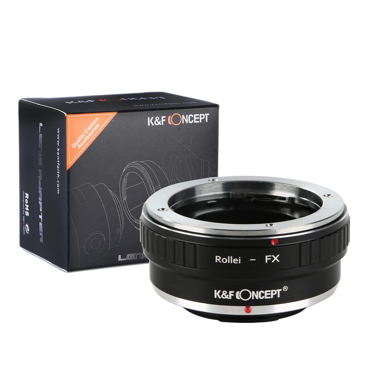 K&F M37111 Rollei QBM Lentes para Fuji X Lens Mount Adapter para DSLR
