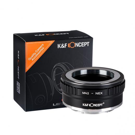 K/&F Concept M42 lente con Sony NEX Camera Adattatore di obiettivo in Ottone