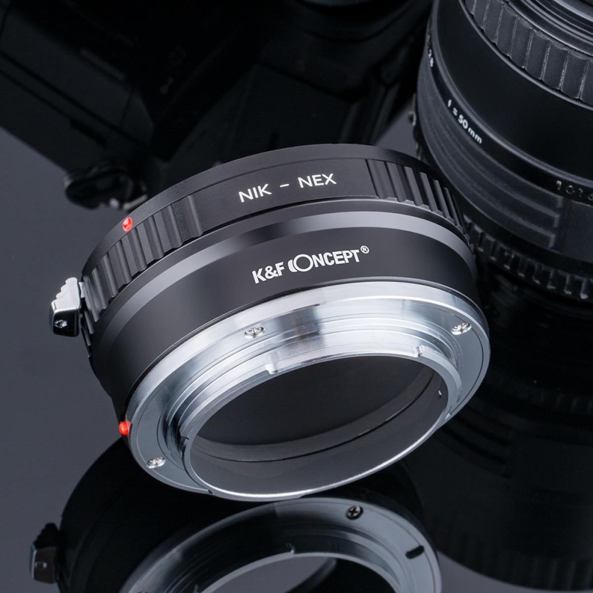 Nikon F Lenzen voor Sony NEX E Camera Adapter