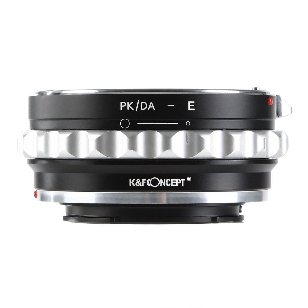 K&F M35101 Lentes Pentax K/M/A/FA/DA para Sony E Adaptador de montagem de lente para DSLR