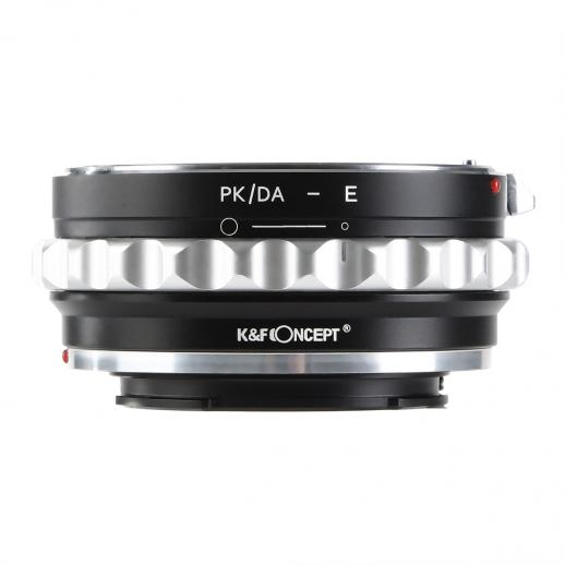 Adaptador de Lentes Pentax K/M/A/FA/DA para Sony E Mount Cámara
