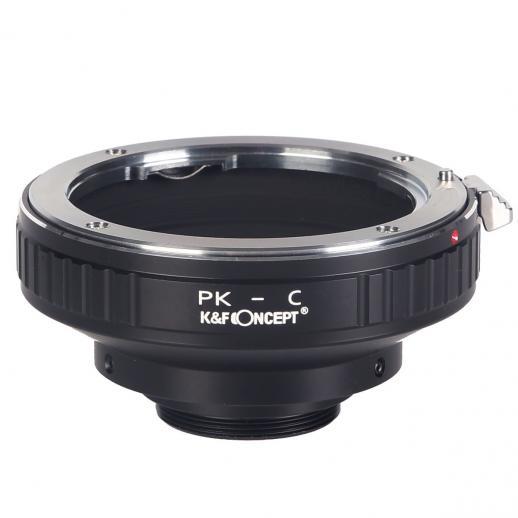 Adapter für Pentax K Objektiv auf C Mount Kamera