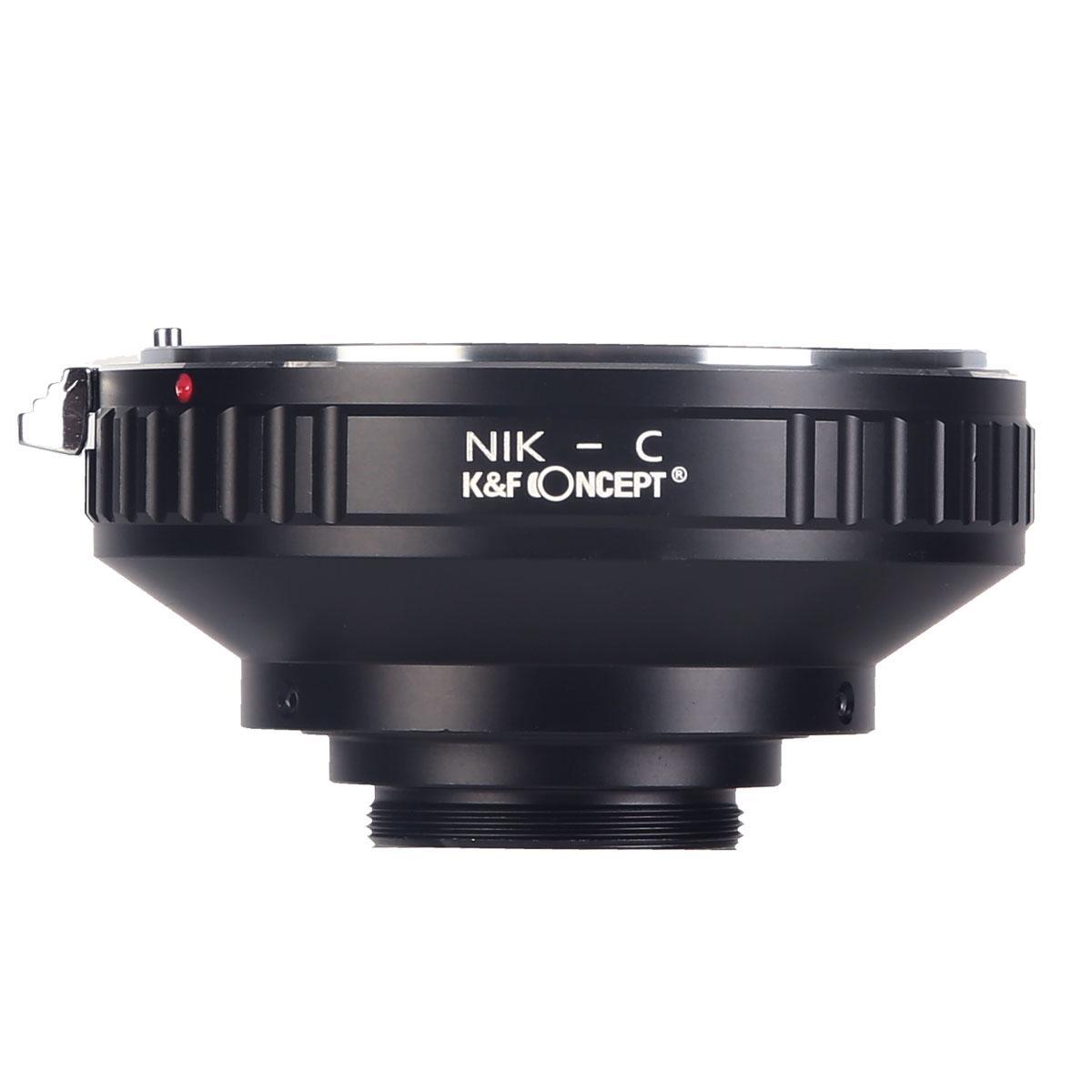 K&F M11231 Bague Adaptation Objectif Nikon F vers C Mount Appareil Photo