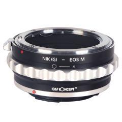 K&F M18141 Bague Adaptation Objectif Nikon G/F/AI/AIS/D vers Canon EOS M Mount Appareil Photo