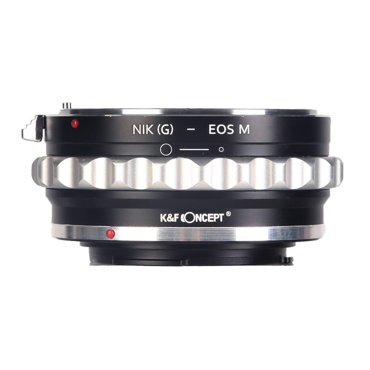 K&F M18141 Lentes Nikon G/F/AI/AIS/D para Canon EOS M Adaptador de Montagem de Lente