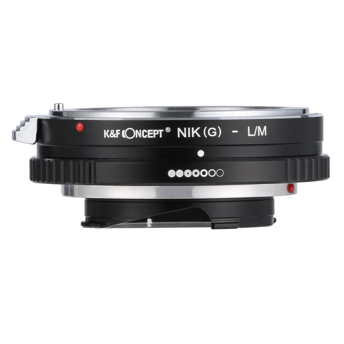 K&F M18151 Adaptador de montagem de lente Nikon G/F/AI/AIS/D para Leica M
