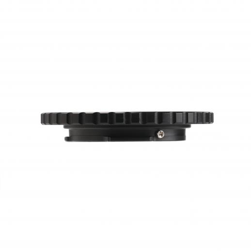 D Monte as lentes no adaptador de montagem de câmera Pentax Q