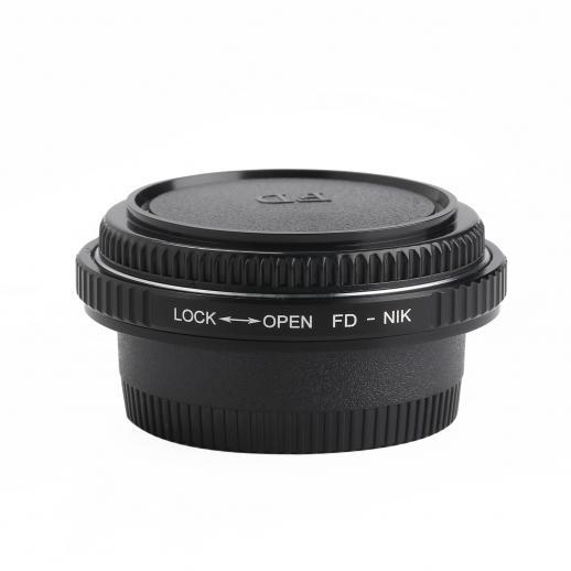 Canon FD Lenzen met Nikon Camera Adapter met optisch glas