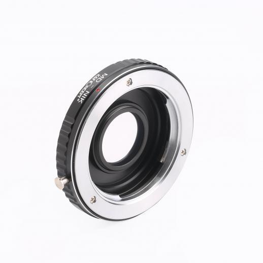 Adapter für Minolta MD MC Objektiv auf Nikon F Kamera mit Optikglas