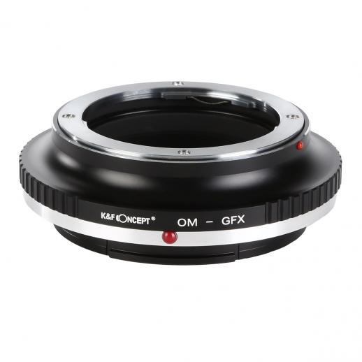 K&F M16211 Adaptador de montagem de lentes Olympus OM para Fuji GFX