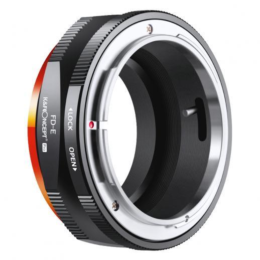 KF M13105   Canon FD- NEX PRO,New in 2020 high precision lens adapter (orange)