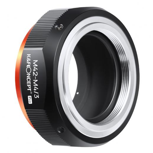 Nowy produkt: K&F M10125 M42-M4 / 3 PRO, nowy w 2020 roku precyzyjny adapter do obiektywu (pomarańczowy)